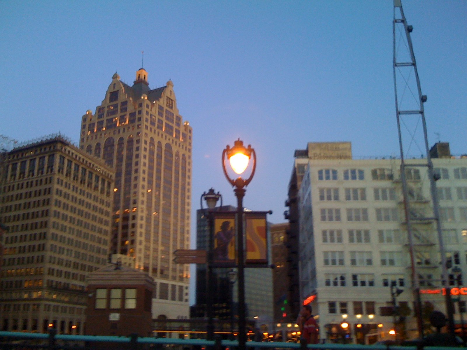 Beautiful downtown Milwaukee. I LOVE this city.