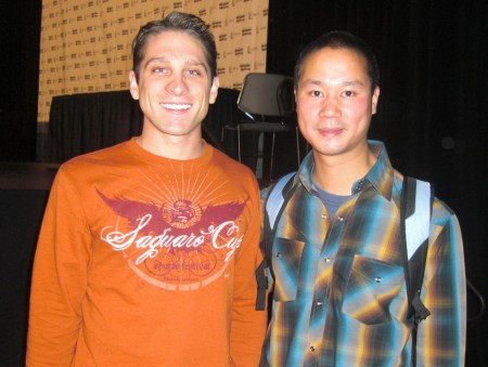 "Here I am ""hobnobbin"" with a big shot, Tony Hsieh, CEO of Zappos.com."