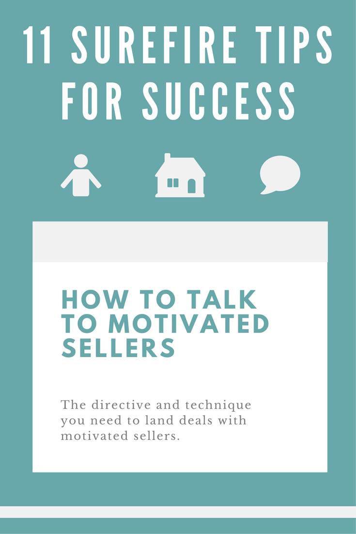 Approaching deals with motivated sellers is tricky. As a seasoned real estate investor, I know that you don't just get lucky every time with those deals – you must have some directive and technique to handle motivated sellers.