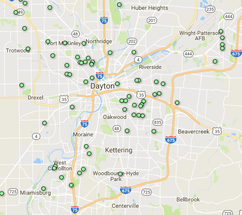 Top Zip Codes for Investment Properties [2017 3rd Quarter] Dayton Zip Code Map on