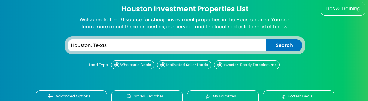 Investment Property Search